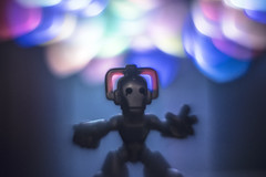 Cyberman & light balloons (Bob-Reid) Tags: nikon bokeh who doctor d750 modification cyberman helios 44m