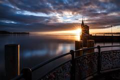 Sunrise at Konstanz (Sebo23) Tags: sunrise reflections wolken bodensee sonne sonnenaufgang konstanz lakekonstanz reflektionen canon6d canon24704l