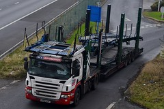 BCA Automotive/ Ex Stobart AY12 AOP (A9309 Karen Marie) A1 Washington Services 21/1/16 (CraigPatrick24) Tags: road cars car truck cab transport lorry delivery vehicle trailer transporter scania logistics bca cartransporter karenmarie stobart eddiestobart scaniap420 a9309 stobartgroup exstobart stobartautomotive ay12aop bcaautomotive