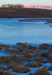 Blue & Pink (stevenbulman44) Tags: sky brown color ice water canon landscape frozen tripod filter alberta lee stacks lseries gnd 2470f28l