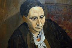 Picasso, Portrait of Gertrude Stein (bust detail), 1905-06