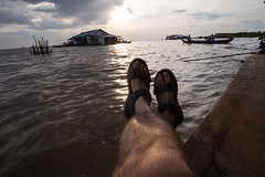 Kampong Phluk - Cambodia (virtualwayfarer) Tags: travel sunset lake feet water rural canon river countryside boat town fishing cambodia southeastasia cambodian locals tour village fishermen exploring boating dslr siemreap pillars fishingboat citymarket travelblog villagers tonlesap waterways indochina developing localpeople budgettravel floatingcity thingstosee solotravel spiritofadventure bootshots independenttravel kampongphluk floatingtown canon6d alexberger spiritoftravel nearangkorwat virtualwayfarer travelingboots travelingboot