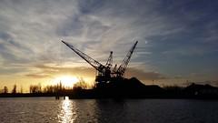 Quay Cranes (Frederik Kremer (FS)) Tags: winter sun canal quay cranes groningen eemskanaal firstrays