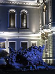 Vainilla (supernova.gdl.mx) Tags: mexico noche calle arquitectura marin guadalajara escultura cabeza universidad nocturna museo javier artes musa monumental escultor vainilla