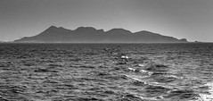 Leaving Favignana (kurjuz) Tags: sea blackandwhite italy seascape island surf waves sicily sicilia favignana egadi choppy