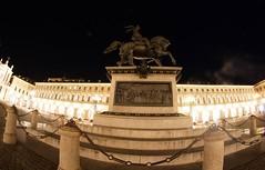 TORINO - Piazza San Carlo (cid) Tags: canon torino fisheye cavallo piazzasancarlo 1000d