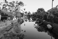 Reflections of the Canal (DezAri Photography) Tags: california travel venice white black reflection water contrast landscape canal los angeles