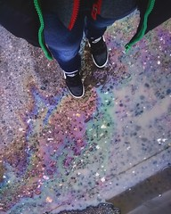 Rainbow on the ground (np_oo) Tags: pink blue green smile yellow fun photography photo cool rainbow colours phone ground trainers beautifulday