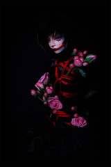 Holding On To You (Dollxy.com) Tags: from gay boy roses sexy love ball dark switch doll darkness gothic emo goth makeup emos bjd yaoi abjd jointed bondgae