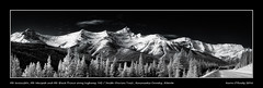 Mt. Invincible, Mt. Warspite and Mt. Black Prince along highway 742 / Smith-Dorrien Trail, Kananaskis Country, Alberta (kgogrady) Tags: morning trees winter blackandwhite bw panorama snow canada mountains clouds landscape blackwhite nikon pano noone ab nopeople alberta infrared peaks nikkor dx smithdorrientrail kananaskiscountry canadianrockies 2016 westerncanada canadianmountains d80 canadianlandscapes cans2s nikkor1870mmf3545gifed mtwarspite mtinvincible picturesofcanada photosofcanada albertalandscapes highway742 mtblackprince picturesofalberta photosofalberta canadianrockieslanscape