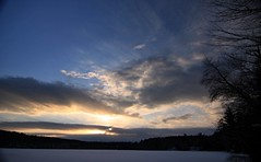 2016_0206Sunset0004 (maineman152 (Lou)) Tags: sunset sky cloud sun lake nature clouds skyscape landscape frozen pond maine february sunrays frozenover wintersky frozenlake skyview naturephotography winterscene skyscene landscapephotography naturephoto skycolor skycolors skydrama westpond landscapephoto