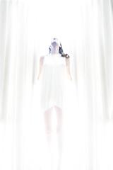 The serenity within (eweliyi) Tags: light portrait woman white me girl standing self pose serenity figure serene highkey ja whitelight project365 83365 eweliyi 365v4