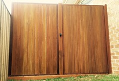 Custom built timber gates