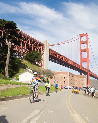 Riding at Fort Point