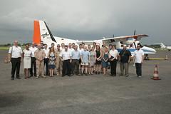 Gruppenfoto vor der DO 228