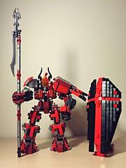 Lego Mech Templar (AiyinLiu) Tags: lego medieval shield gundam crusader mecha templar spearman moc