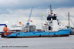 Blue Alfa (andreasspoerri) Tags: dnemark cuxhaven versorger bluealfa imo7921007 maerskdetector danyardfrederikshavn assoquattordici augusteaquattordici