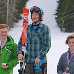 Red Mountain Fidelity BC Cup SL March 3/16 - U18 Podium - left to right: Kole Harle, Liam Wallace, Asher Jordan