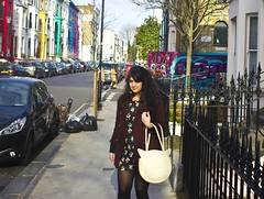 laila, cat bag, ootd, outfit, clothes, red tweed, tweed blazer, black dress, black floral dress, messy hair, outfit notting hill, street style, london street style (laylailalay) Tags: outfit clothes messyhair laila blackdress catbag streetstyle ootd redtweed blackfloraldress tweedblazer londonstreetstyle outfitnottinghill