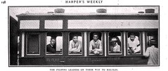 Filipino Rebel Leaders on the train to Malolos 1899 (SSAVE w/ over 5 MILLION views THX) Tags: spanishamericanwar 1899 passengercar rebelleaders maniliarailroad