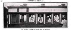 Filipino Rebel Leaders on the train to Malolos 1899 (SSAVE w/ over 5 MILLION views THX) Tags: spanishamericanwar 1899 passengercar rebelleaders maniliarailroad