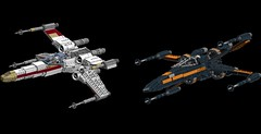 X-Wing Old and New 1s=f (picardsbricks) Tags: starwars lego resistance anewhope t70 t65 rebelalliance episodeiv wedgeantilles episodevii theforceawakens poedameron