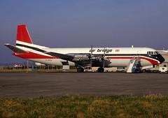 G-AEPJ  Vanguard/ Merchantman  Air Bridge (n707pm) Tags: ireland airplane airport aircraft slide cargo scan airline vanguard freighter vickers coclare snn shannonairport einn merchantman gapej 051990 cn713 airbrigde
