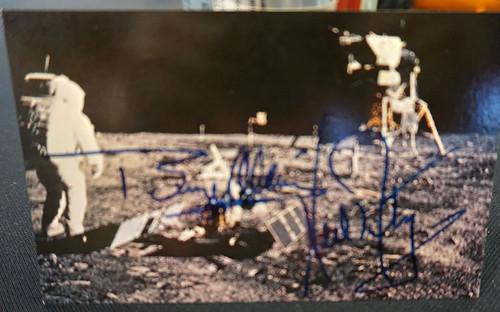 Buzz Aldrin Signed Postcard ($550.00)