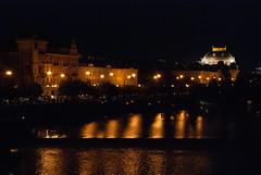 View from the Charles Bridge (stephengg) Tags: bridge night republic czech prague charles praha most vltava karlv