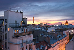 Rooftop | Justine Magny (Justine Magny Photography) Tags: city longexposure nightphotography travel light sunset cloud paris france color building tower love rooftop monument colors arquitetura architecture night clouds canon happy amazing arquitectura colorful heaven nightshot walk horizon eiffeltower eiffel paisagem ciel toureiffel photowalk nuage paysage toit francia franca ville immeuble parigi urbex aventure invalide exterieur longexpo feuuuuuuuuuuuuuuu