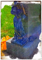 Broken angel... (Sherrianne100) Tags: broken cemetery angel headstone brokenwing