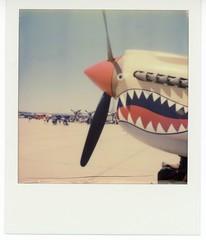 Sharky (Lindsey Garrett) Tags: airplane polaroid airshow slr680 p40 airfest marchafb roidweek impossiblefilm