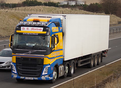 D R Macleod of Stornoway Volvo FH SY15AYE on the A9 at Blackford, 13/3/16 (andyflyer) Tags: truck transport lorry blackford a9 stornoway haulage hgv roadtransport volvofh drmacleod sy15aye