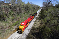 Cruising through western Iowa (Moffat Road) Tags: railroad train iowa ia locomotive hancock ge 30thanniversary mcclelland 516 iais iowainterstate yorkcenter es44ac bicb specialpaintscheme no516