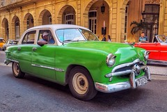 Green Ford, Havana, Cuba (augenbrauns) Tags: green ford classiccar vintagecar havana cuba olympus