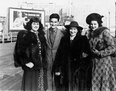 jackie rudy lucy judy - atlantic city boardwalk 1941 (Doctor Casino) Tags: atlanticcity florentine