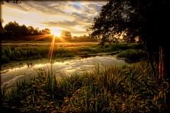 .sunrise. (MarcelXYZ) Tags: morning sun tree water sunrise canon landscape drohiczyn cesarz marcelxyz