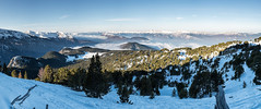 View back to the valley on the trail up to Croix de Chamrousse (andy bryant) Tags: winter snow france nature snowshoe fra chamrousse rhnealpes croixdechamrousse