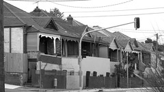 Sydney NSW - Old early 20th century terrace bungalow townhouses 2016 (BW) (nicephotog) Tags: urban brick century early townhouse sydney nsw 20th twentieth