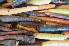 20160424 Provence, France 02612 (R H Kamen) Tags: food france closeup market vegetable carrot variety multicolored freshness marketstall vaucluse foodmarket carpentras provencealpesctedazur rhkamen