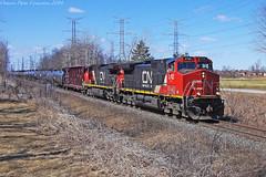 9660 (ontario photo connection) Tags: railroad ontario canada cn train railway rails locomotive locomotives markham railroads canadiannationalrailway yorkregion