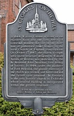 St. George's On-The-Hill (Will S.) Tags: toronto ontario canada church plaque churches christian etobicoke christianity mypics anglican protestant cofe churchofengland protestantism stgeorgeschurch anglicanism stgeorgesonthehill