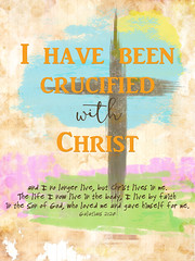 Bernie Tuffs - Take Me Deeper 2016 - DNA - Week 13 Creative Prompt - 25th March - I Am Crucified with Christ (Bernie Tuffs - Digital Artist) Tags: am cross faith christian crucified i tmd2016 takemedeeper2016dna