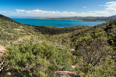 View of Wineglass Bay (chasingthelight10) Tags: ocean travel mountains nature photography landscapes countryside seascapes events australia places coastal beaches tasmania forests wineglassbay freycinetnationalpark