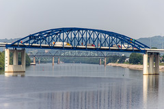 Kanawha River Crossings (Eridony) Tags: bridge water river bridges charleston westvirginia kanawhacounty