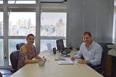 Secretrio com Ftima Daudt de Novo Hamburgo (Lucas Redecker) Tags: sme novohamburgo secretrio lucasredecker
