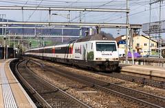 FFS Re 460 035 (atropo8) Tags: train switzerland nikon zug sbb basel helvetia treno ffs liestal d810 wrapadvertising 460035