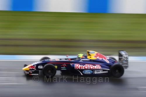 Luis Leeds in British Formula Four during the BTCC Donington Weekend: 16th April 2016