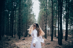 Running Barefoot (hollyrosestones) Tags: trees forest hair exploring running wanderlust barefoot