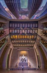Lincoln Memorial Vert (D. Scott McLeod) Tags: monument dawn washingtondc dc districtofcolumbia tourist nationalmall lincolnmemorial mcleod scottmcleod vertorama dscottmcleod